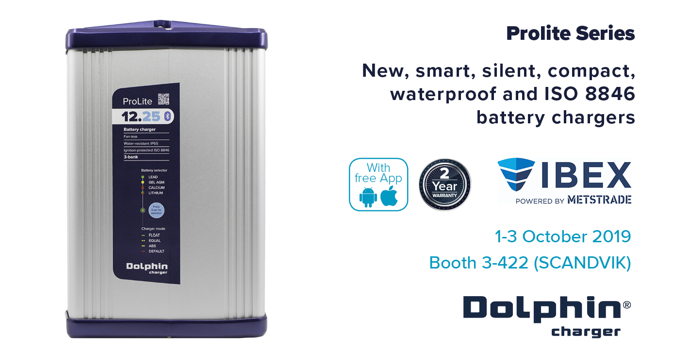 New ProLite compact 12V marine battery chargers (25A and 15A)