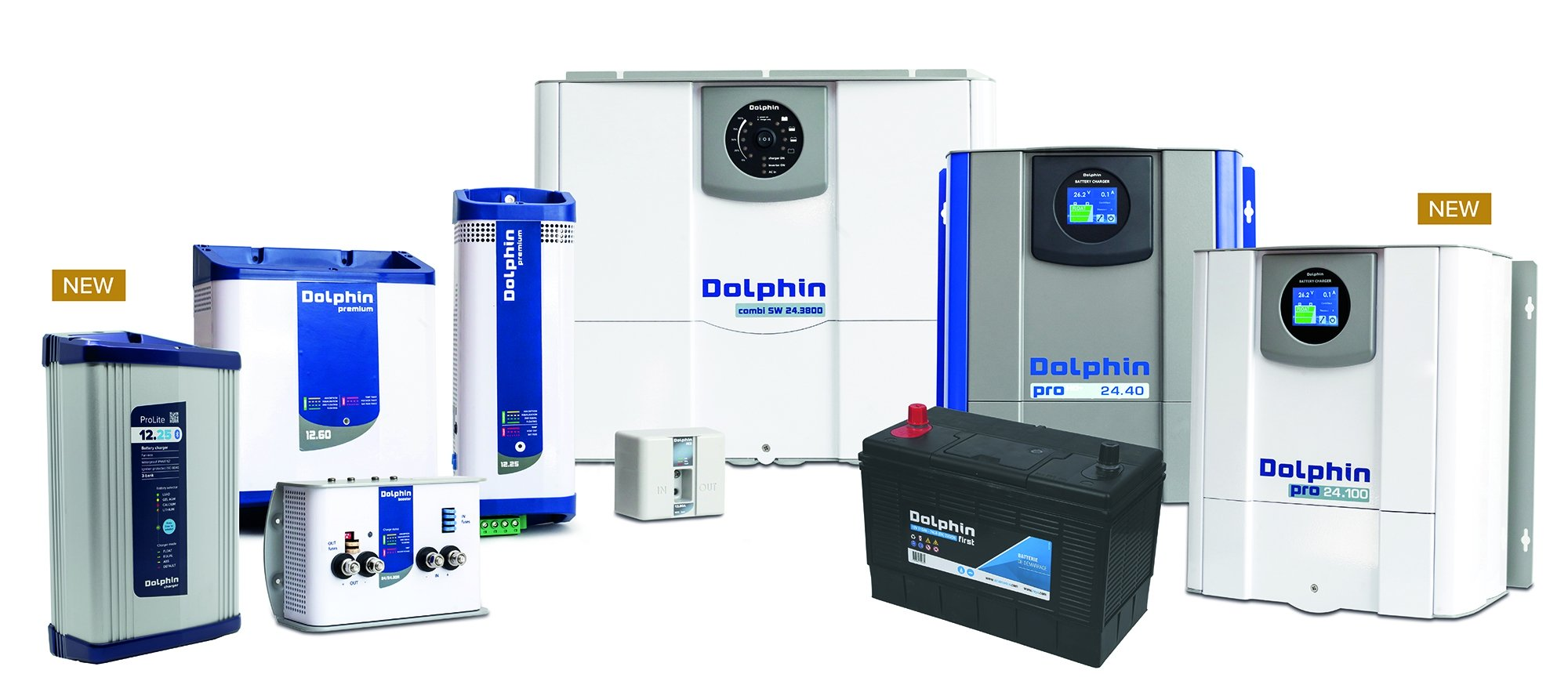 Dolphin Charger: a complete family of marine chargers since 1995